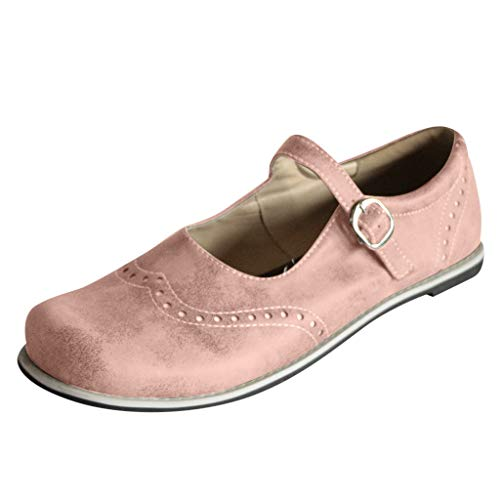 Amazon.com | Opinionated Womens New Retro Ladies Shallow Mouth Flat Buckle Casual Shoes Moss Sandals Flat Shoes | Shoes