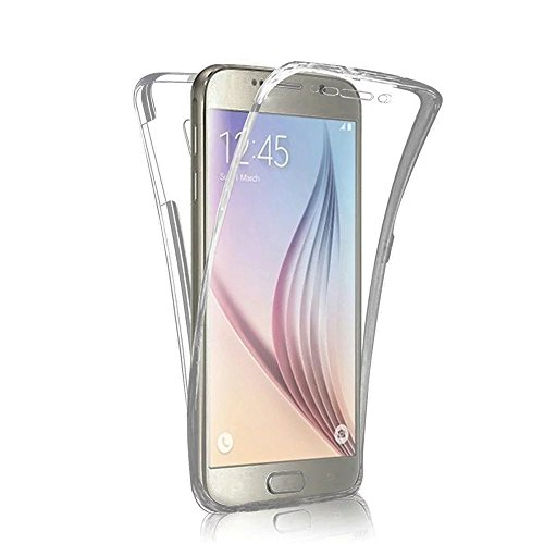 Funda Samsung Galaxy S6 Edge Plus Cover Samsung G928,Ukayfe Funda 360 Doble Delantera + Trasera Gel Transparente Silicona Gel para Samsung Galaxy S6 Edge Plus Samsung G928,Samsung Galaxy S6 Edge Plus  Negro 360 1#