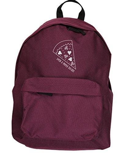 HippoWarehouse Amor a primer Bocado. kit mochila Dimensiones: 31 x 42 x 21 cm Capacidad: 18 litros Granate
