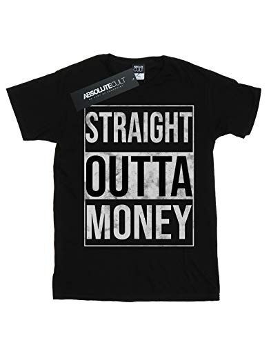 Drewbacca Del Outta Money Mujer Novio Fit Camiseta Negro Straight 7wqvRO71
