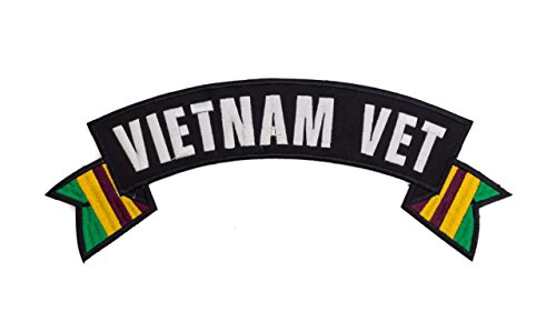 VIETNAM VET Black w/ White with Brown/Gold/Green Flags To...