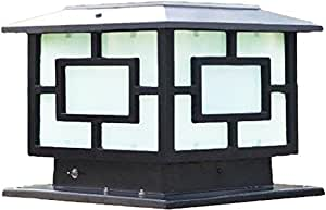 The Extra Large Solar Post Cap Lights, Or Pillar Lights, Size: 30CM X 30CM Or 11.8In X 11.8In, Are Solar Powered Outdoor Post Cap Lights Or Lantern (Solar Black)