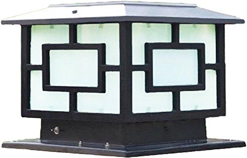 The Extra Large Solar Post Cap Lights, Or Pillar Lights, Size: 30CM X 30CM Or 11.8In X 11.8In, Are Solar Powered Outdoor Post Cap Lights Or Lantern (Black Metal)