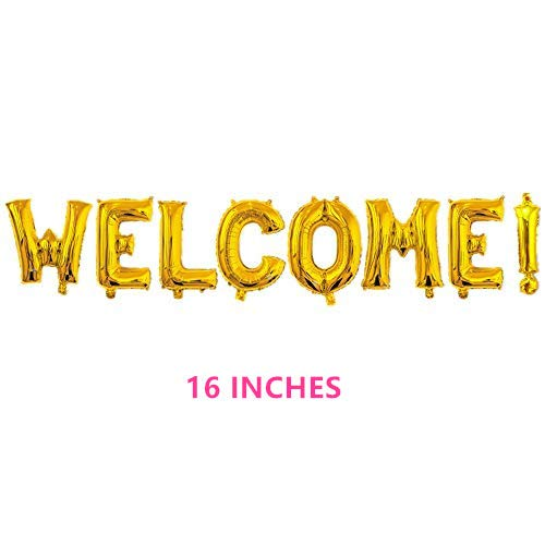 Rose&Wood Welcome Balloon Banner 40