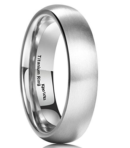 King Will BASIC 5MM Titanium Ring Brushed/Matte Comfort Fit Wedding Band For Men (8.5) (Design Comfort Fit Wedding Ring)