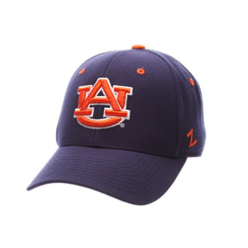 Zephyr NCAA Auburn Tigers Men's DH Fitted Cap, Navy, Size 7 3/4 - Fitted Zephyr College Cap