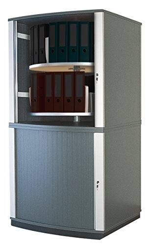 Moll Lockfile Binder & File Carousel Cabinet with Four Tier, Dark Gray (LF4)