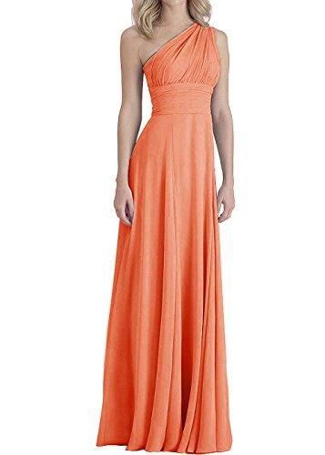 Empire Des Femmes Dys Robe De Demoiselle D'honneur Convertibles Longues Robes De Soirée Orange Foncé
