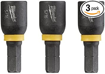 Milwaukee 1//4 x 1-7//8 inch Magnetic Tip Nut Impact Driver Bit 3 Pack Bits Tool