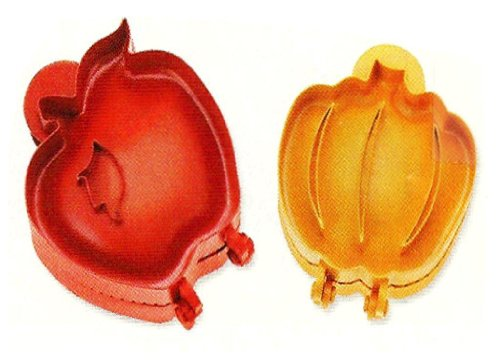 (POCKET PIE MOLDS - SET OF 2 (1-PUMPKIN AND 1-APPLE))