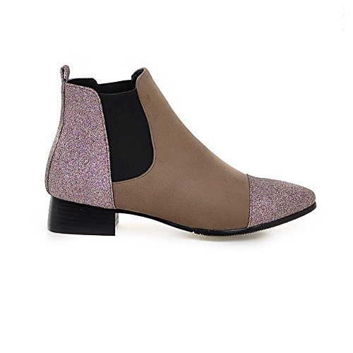 Low Material Apricot Low Heels Toe Closed Solid Soft Pointed Boots top Women's Allhqfashion 0IwURR