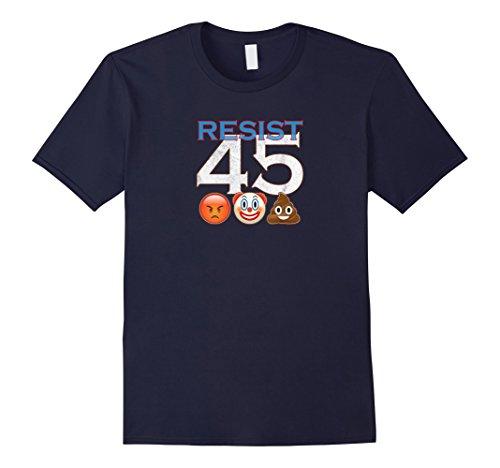 Anti Trump T-Shirt Resist 45 Donald Trump Emoji Tee