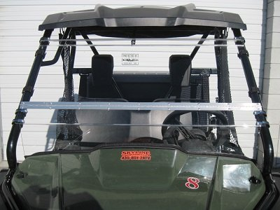 HONDA PIONEER 500 Full-Tilt Windshield-Best of both worlds. Half when you want and full when you need. (Does not fit the 700 or 1000) Made in America (500 Windshield)