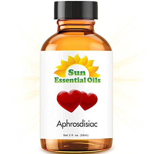 Aphrodisiac Blend - 2 fl oz Best Essential Oil - 2 Ounces (59ml) - Ylang Ylang, Patchouli, Orange, French Lavender, Sandalwood, Jasmine