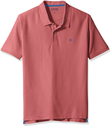 IZOD Men's Advantage Performance Solid Polo, Saltwater Red, Large