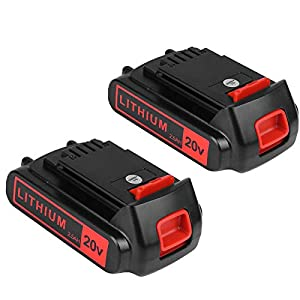 2packs Replace Battery for Black and Decker 20v Max 2500mAh,LBXR20 Replacement Battery LB20 LBX20 LBX4020 Extended Run…