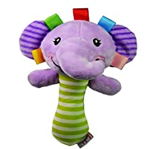 Plush Toys Baby Elephant Rattles Animal Plush Soft Toys Early Educational Doll
