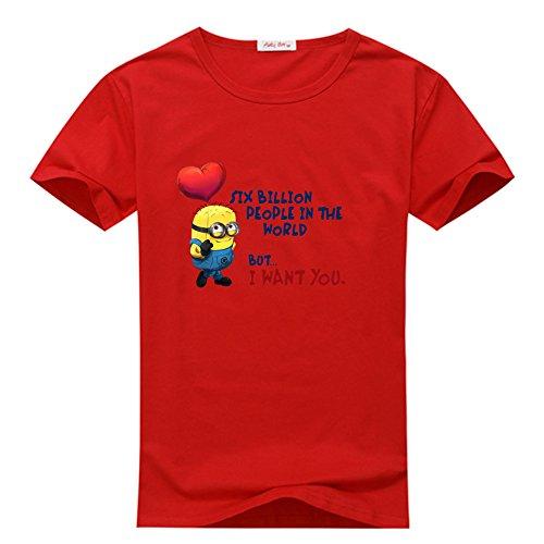 Men Little Cartoom Minions 23 Billion In The World But I Want You Tee (Minion Mens Sweatshirt)