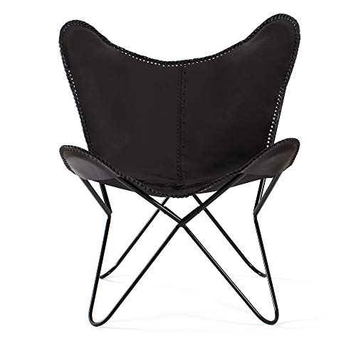 Madeleine Home Brevent BKF Butterfly Chair with Canvas Seating