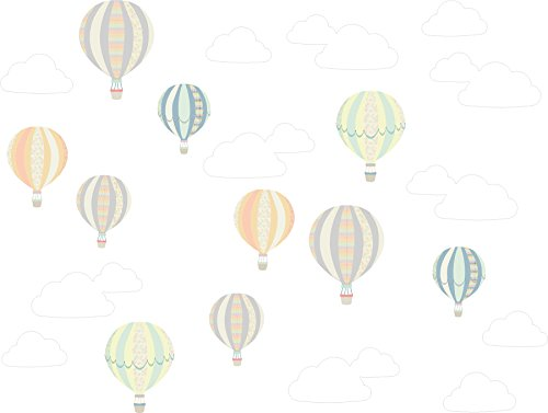 Away Wall Art - WallPops DWPK2535 Up, Up and Up, Up and Away Wall Art Kit, Multicolor