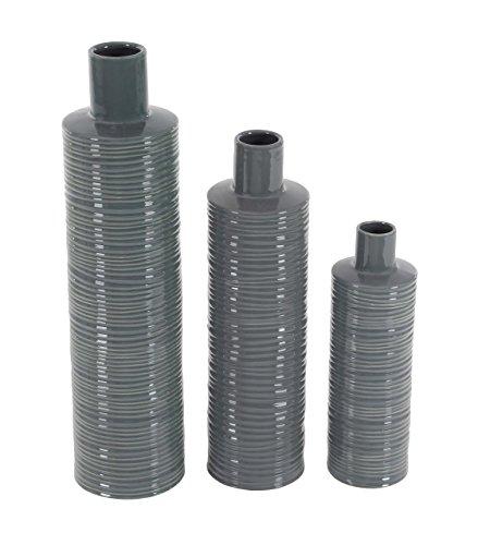 - Deco 79 40540 Ribbed Ceramic Bottle Vases (Set of 3), 5