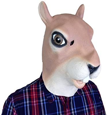 Máscara Ardilla Látex Completo Cabeza Película Calidad Disfraz ...
