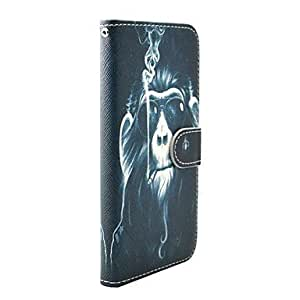HaleyL-Smoking Monkey Pattern Full Body Case with Stand for iPhone 6 Plus
