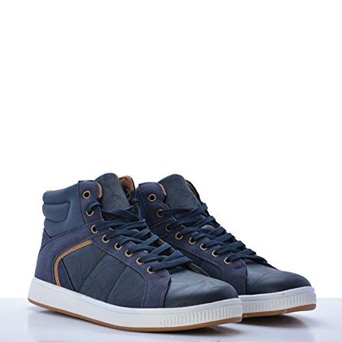 Altamoda Zapatillas de Estilo Botines de Hombre Color Azul SS18