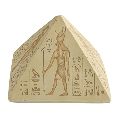 Culture Spot Egyptian Hieroglyphs Pyramid of The Gods Paperweight | 5 Inches ()