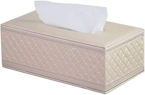 Xink-zjh Caja de pañuelos Caja De Pañuelos De Cuero Rectángulo ...