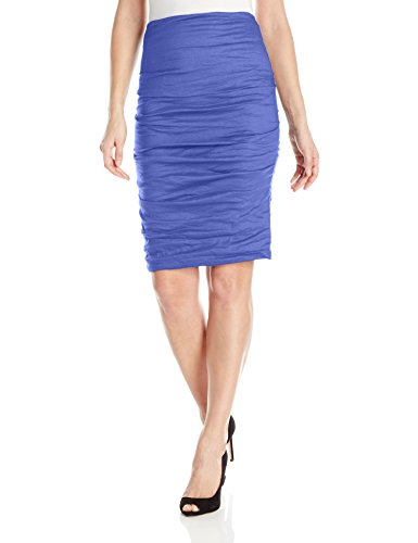 Metal Womens Skirt (Nicole Miller Women's Sandy Cotton Metal Skirt, Catalina Blue, 8)