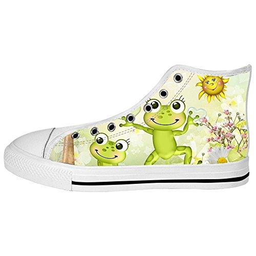 Custom Rana divertente Mens Canvas shoes I lacci delle scarpe in Alto sopra le scarpe da ginnastica di scarpe scarpe di Tela. Espacio Libre En Busca De kjKAr