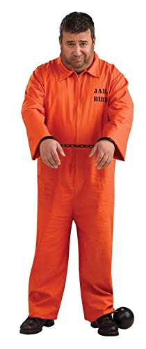 Plus Size Orange Prisoner Jumpsuit Costume, 46 to (Orange Jumpsuit Costumes)