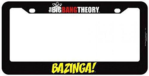 Big Bang Theory Bazinga License Plate Frame Entertainment Earth BBP17804