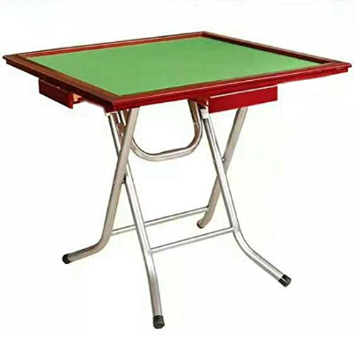 33'' Universal Mahjong Game Folding Table (Installation Free) ~ For Poker / Dominoes / Card / Paigow / Mahjong Game Table w/ 4 Drawers and Vinyl Inset by We Pay Your Sales Tax