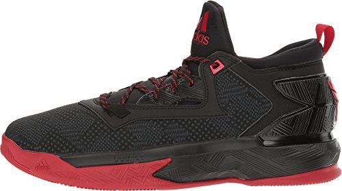 adidas D Lillard 2, Zapatillas de Baloncesto para Hombre Black/Scarlet/Black