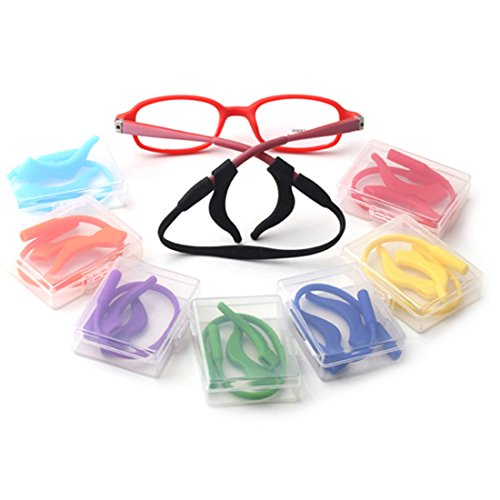 Kalevel Glasses Ear Girp Hook Eyeglass Ear Socks Sport Eyeglass Strap Holder Set (Pink)