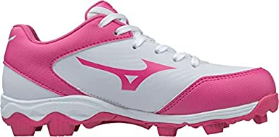 64421260991d Amazon.com | Mizuno (MIZD9) Kids' 9-Spike Advanced Finch Franchise 7 Youth  Girls Fastpitch Softball Cleat Shoe | Softball & Baseball