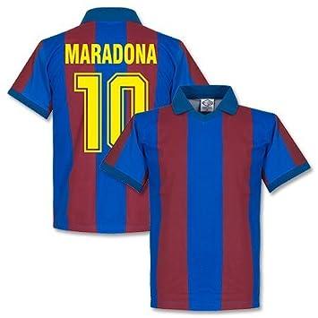1a8e58b83 1980 s Barcelona Home Maradona Retro Shirt - XXL  Amazon.co.uk ...