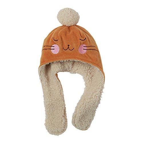 Zutano Baby Girls' Velour Bunny Hat - Caramel, 24 Months -
