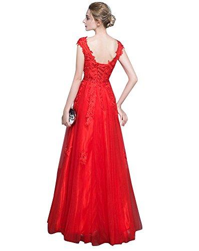 40f41d185f92 Manica D onore Pizzo emily Abito Beauty Applique Da Damigella Di Corta  Rosso iPkXZu