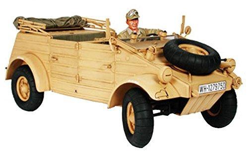 Tamiya 1/16 Big tank series No.2 German Pkw.K1 Kubelwagen Type 82 Africa specification/Rommel Marshal with plastic model (Tamiya Kubelwagen Type)