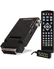 RED OPTICUM AX Lion 5 AIR DVB-T2 H.265 receiver met opnamefunctie, externe infraroodsensor met LED-display, HDMI/SCART, USB 2.0 I 12V voeding, ideaal voor kamperen