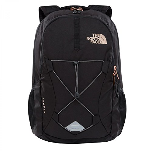 (The North Face Women's Jester Backpack - TNF Black Heather & Burnt Coral Metallic - OS)