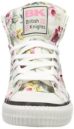 British Knights Dames Dee Hoge Sneaker Wit (gebroken Wit / Roze Bloem)