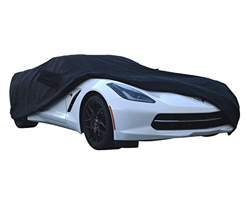 (Custom Car Cover Fit Series for Chevrolet Chevy Corvette Coupe Convertible C5 C6 1997~2013 - UV Resistant - Breathable Fabric (Prime Waterproof Gold Black))