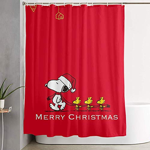 WXCYL Snoopys Merry Christmas Fashion Polyester Shower Curtain 60x72 Inch ()