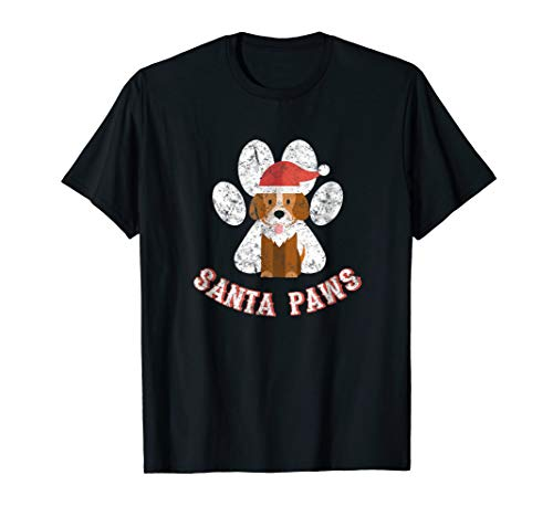 Santa Paws | Funny Christmas Dog Pet Puppy Holiday T Shirt