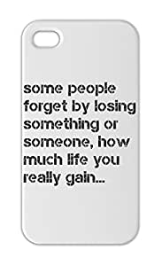 some people forget by losing something or someone, how much Iphone 5-5s plastic case