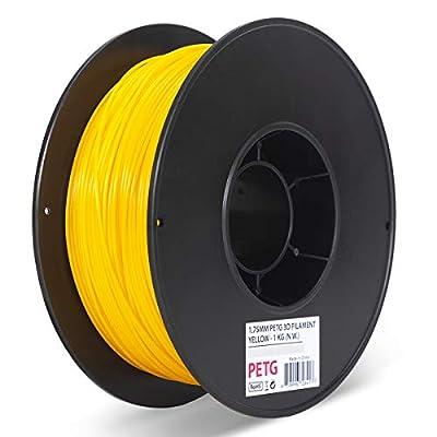 Inland 1.75mm Yellow PETG 3D Printer Filament - 1kg Spool (2.2 lbs)
